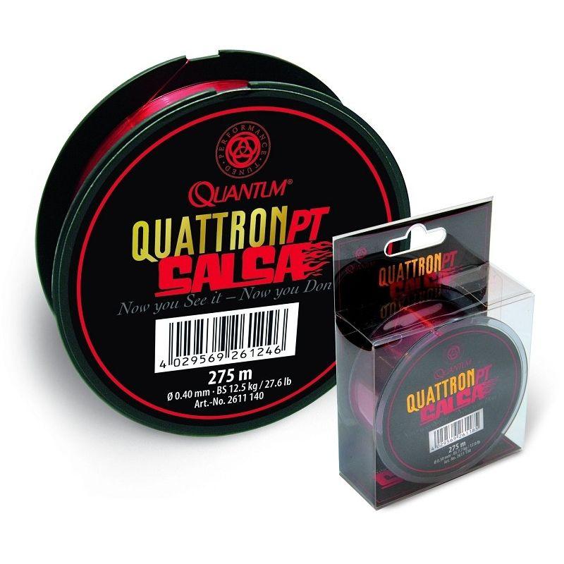 Quantum Quattron Salsa 275m transparent rot (Monofile)