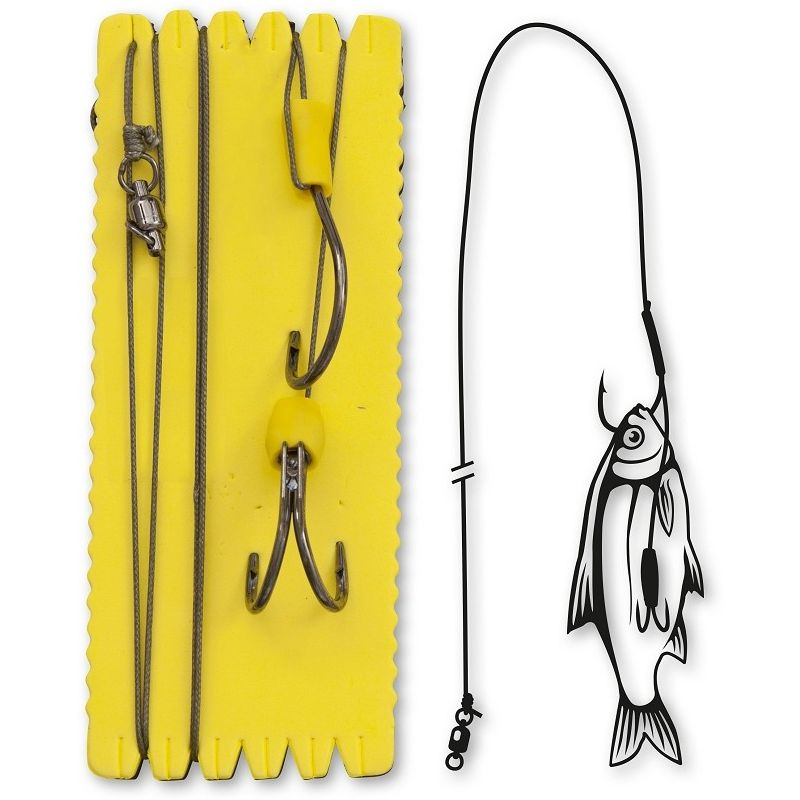 Black Cat Bouy and Boat Ghost Double Hook Rig