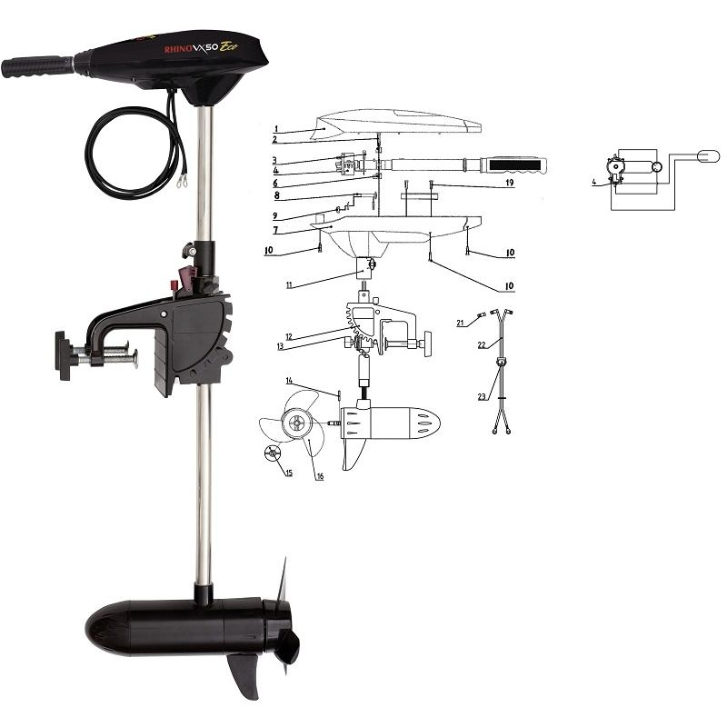 Rhino VX 50 ECO Elektro-Außenbordmotor (E-Motor)