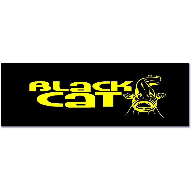 Black Cat Bootsaufkleber